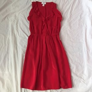 Ann Taylor LOFT 100% Silk Red Dress!